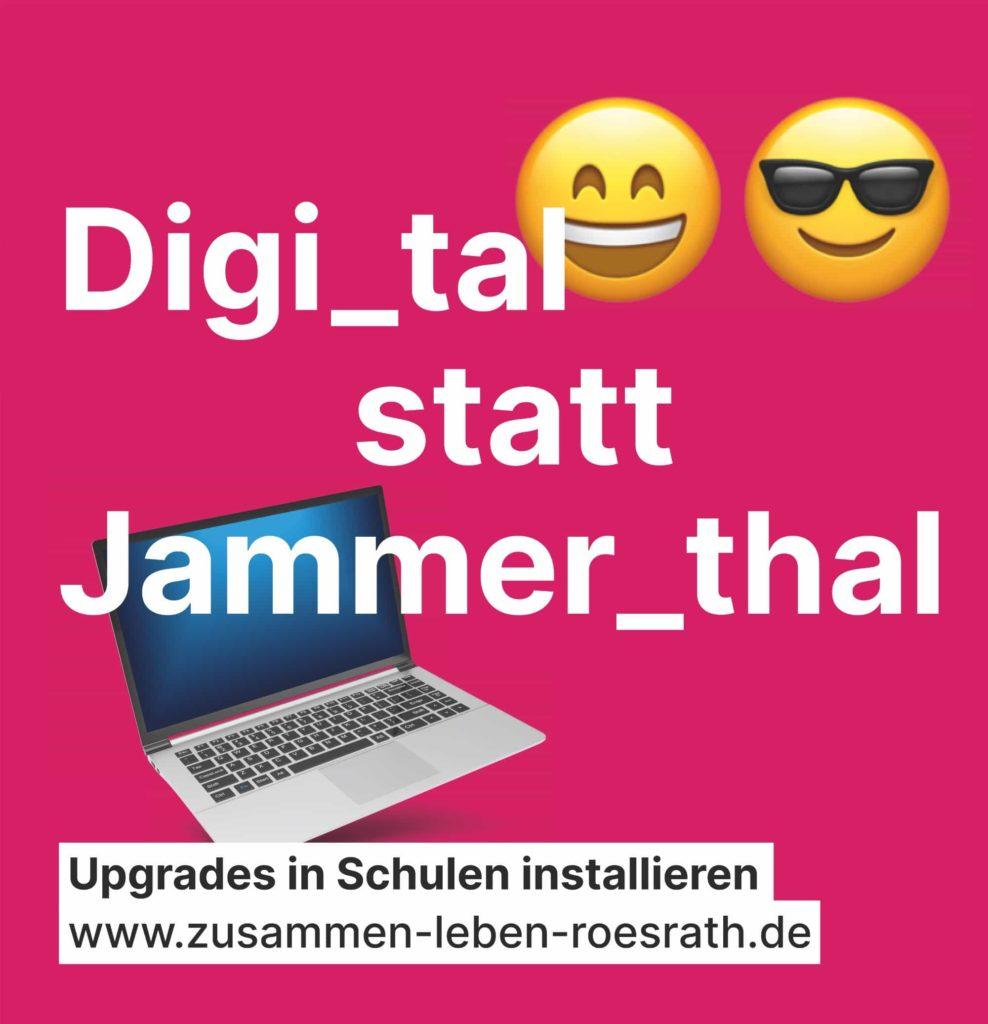 """Plakat """"Digital statt Jammerthal"""" für Kommunalwahl 2020"""