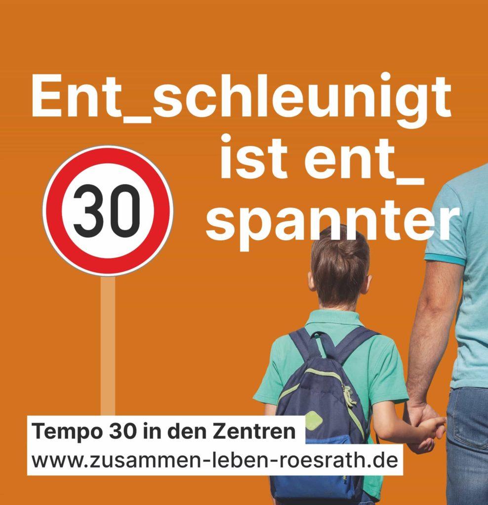 """Plakat """"Entschleunigt ist entspannter"""" für Kommunalwahl 2020"""