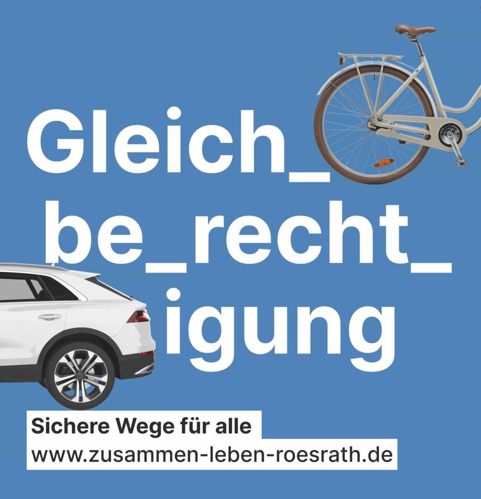 """Plakat """"Gleichberechtigung"""" für Kommunalwahl 2020"""