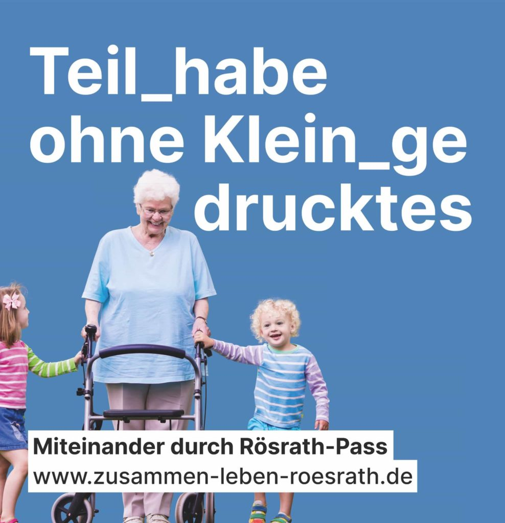 """Plakat """"Teilhabe ohne Kleingedrucktes"""" für Kommunalwahl 2020"""