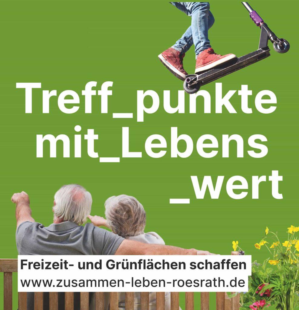 """Plakat """"Treffpunkte mit Lebenswert"""" für Kommunalwahl 2020"""
