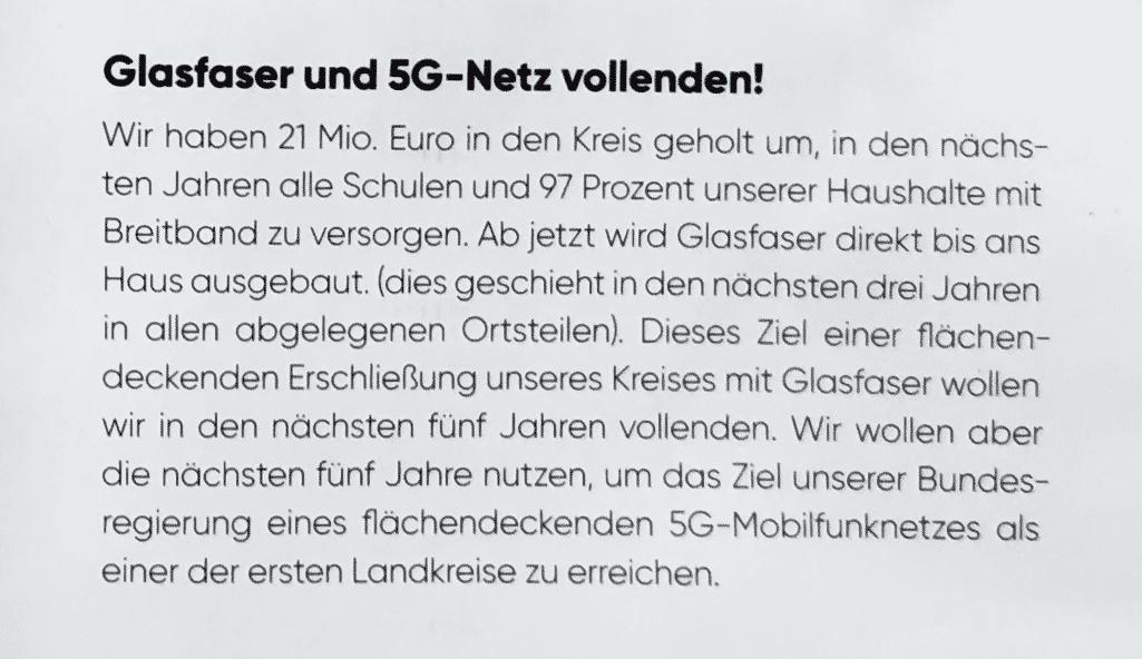 Glasfaser-Versprechen der CDU