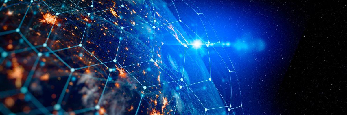 Symbolisiertes weltweites Netz