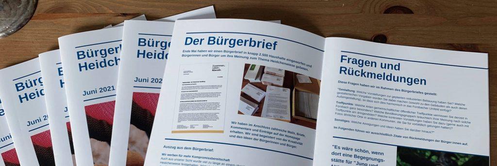 Broschüre Auswertung des Bürgerbriefs